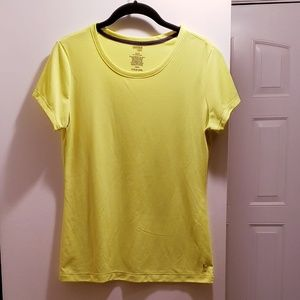 Danskin Neon Yellow Sports T-shirt, Size Medium